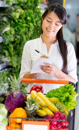 Create a shipping list to help you stick to your diet.