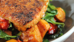Cumin Scented Pan Seared Salmon With Balsamic Roasted Vegetables0a.jpg